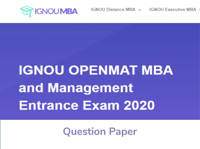IGNOU OPENMAT Previous Year Question Paper
