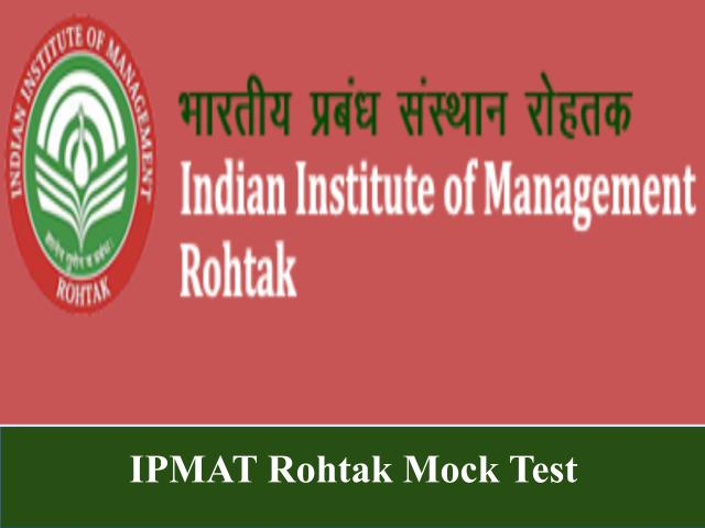 IPMAT Rohtak Mock Test 2021
