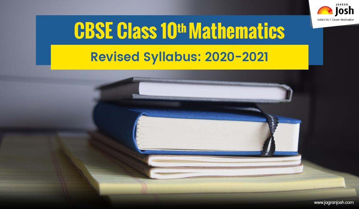 CBSE Class 10 Mathematics Syllabus 2020-2021