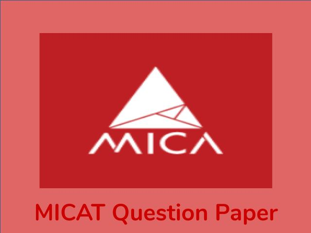 MICAT Previous Year Question Paper