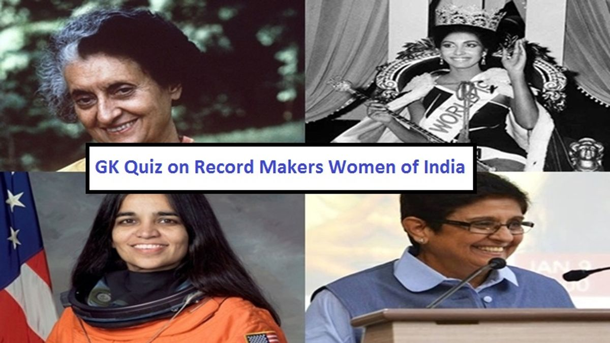 GK Questions and Answers on Record Makers Women of India