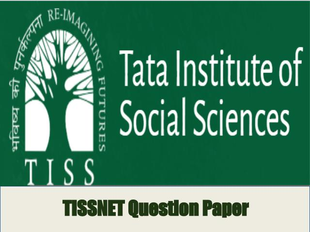 TISSNET Previous Year Question Paper
