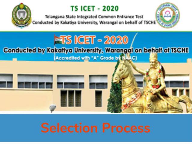 TS ICET Selection Process 2020