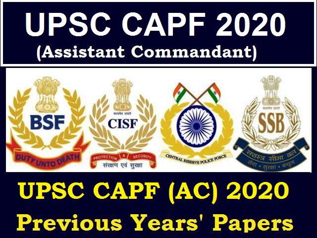 UPSC CAPF (Assistant Commandant) 2021