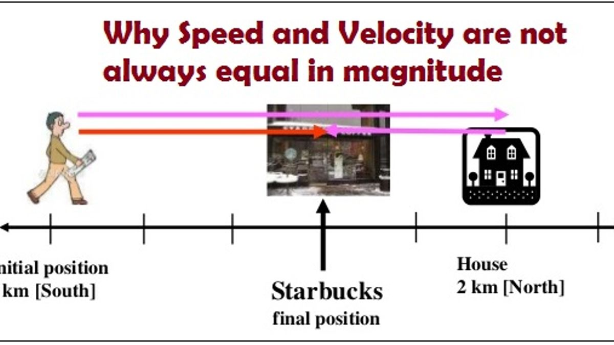 Why Speed and Velocity are not always equal in magnitude