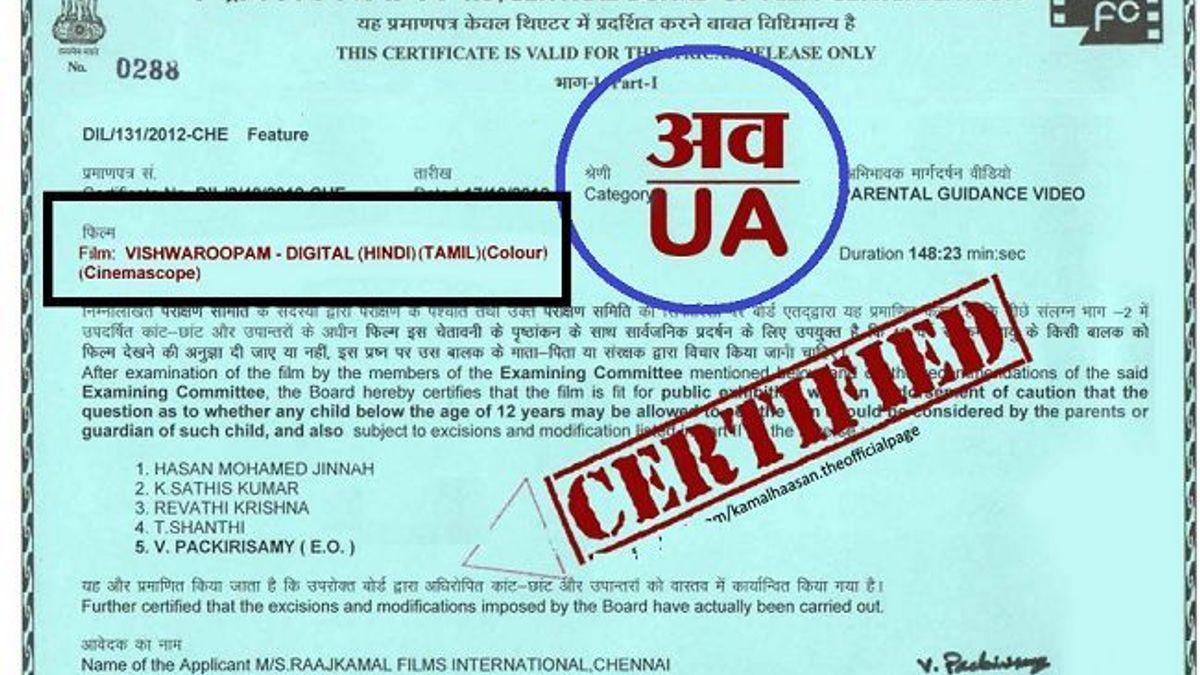 CBFC Certificate