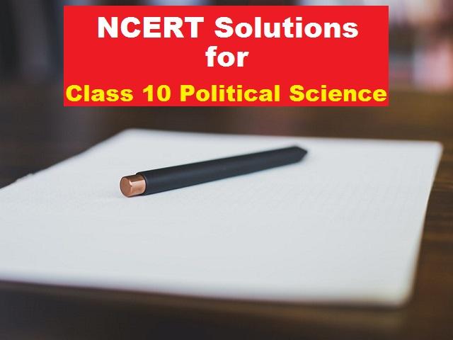 NCERT Book for Class 10 Political Science (Democratic Politics) 2021-2022