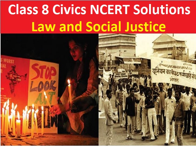 class 8 civics chapter 10 law and social justice ncert solutions free pdf download
