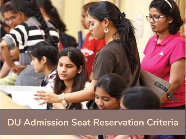 DU Admission 2020 Seat Reservation Criteria and Policy
