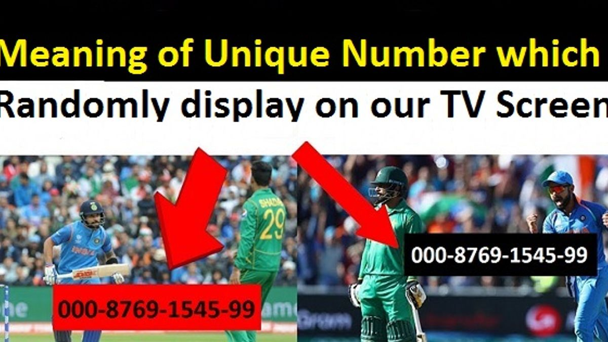 meaning of unique number which randomly display on TV screen