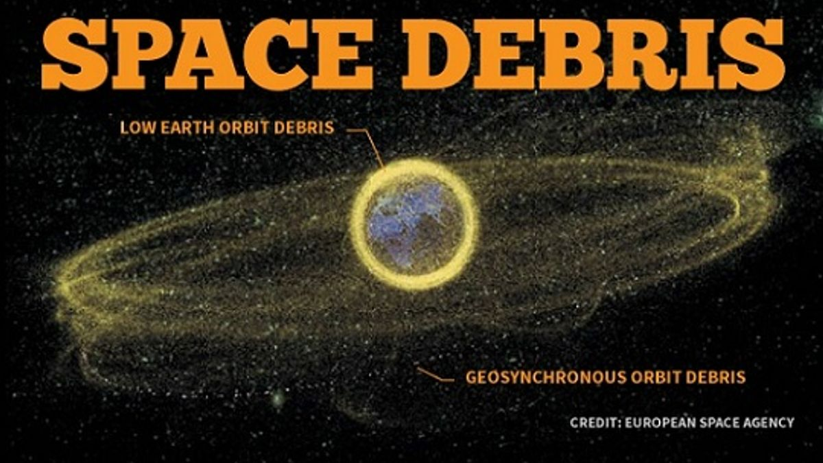 What is space debris and its causes?