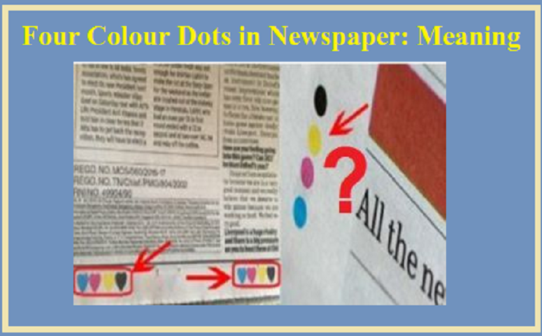 Four Colour Dots in Newspaper