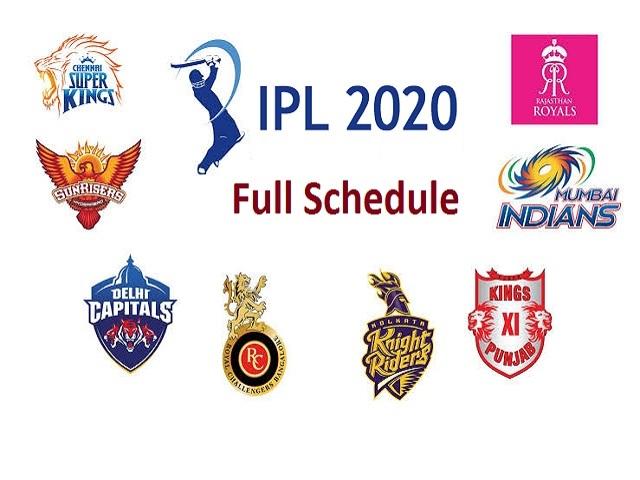 IPL 2020 Full Schedule