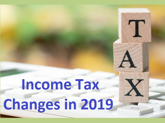 Income tax changes 2019