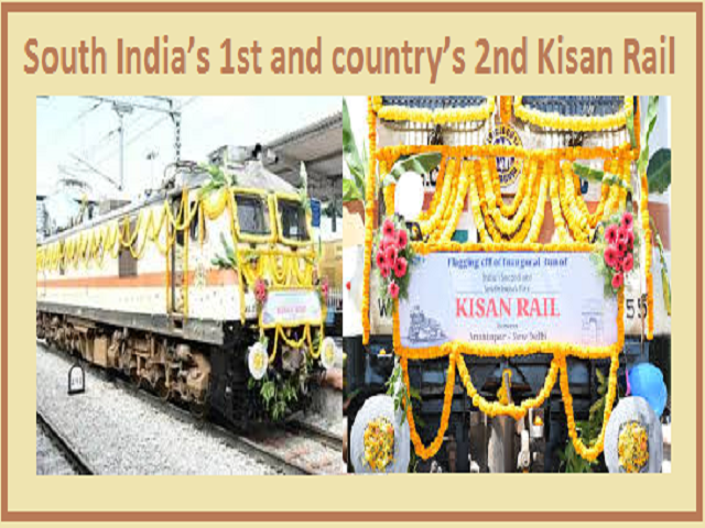 South India's 1st and country's 2nd Kisan Rail