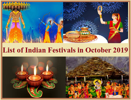 List of Indian Festivals in October 2019
