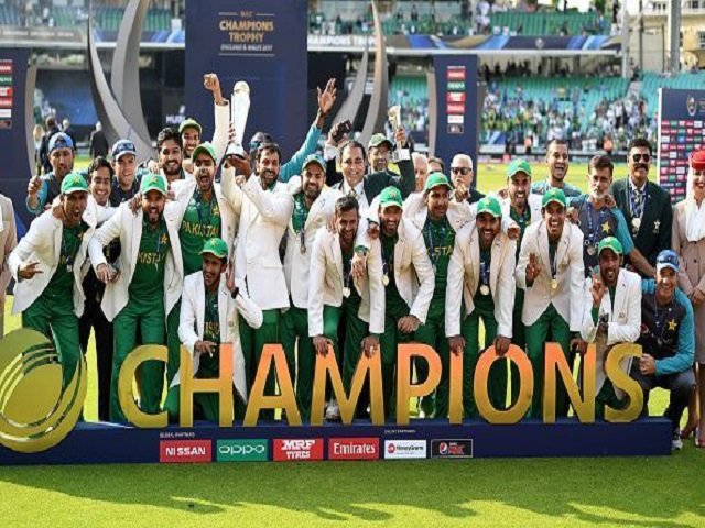 Pakistan Team celebrating victory in Champions Trophy 2017