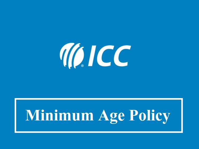 Minimum age policy of ICC