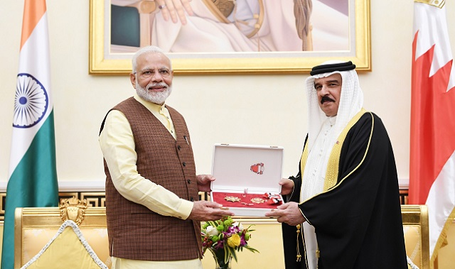PM Modi conferred Bahrain Order - First Class