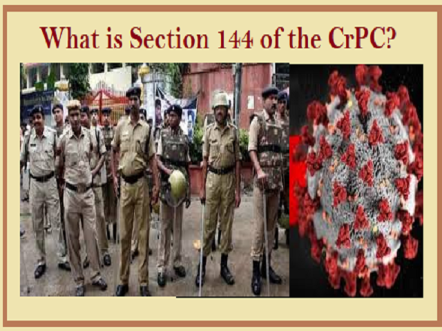 What is Section 144 of the CrPC?
