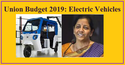Union Budget 2019: Electric Vehicles