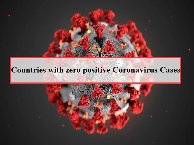Countries with zero COVID-19 cases