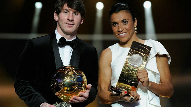 Messi with FIFA best player Award