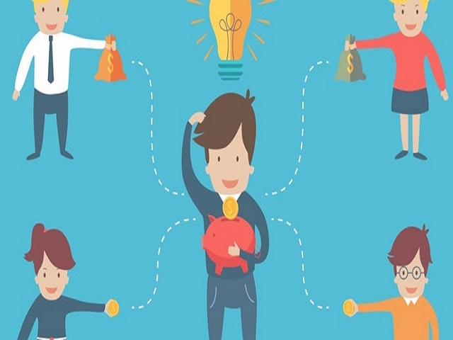 What is the meaning of Crowdfunding?