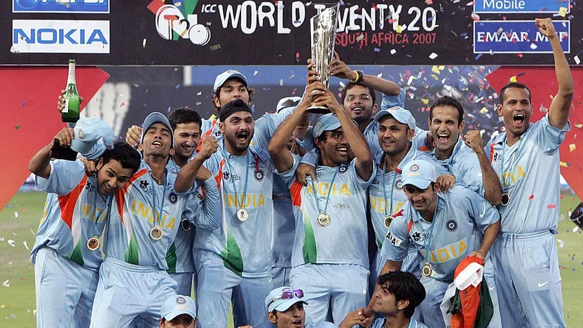 Indian Team after winning first T20 Cricket World Cup 2007