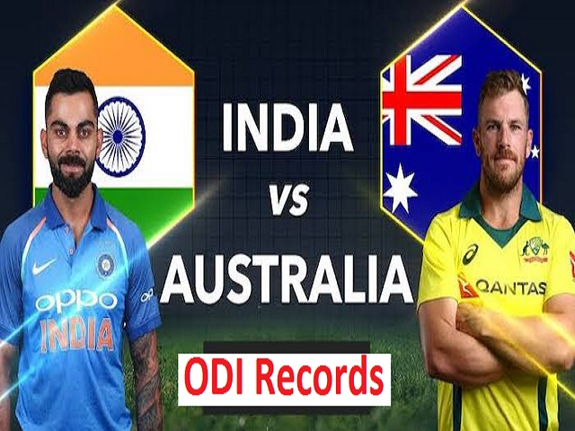 India VS Australia: ODI records
