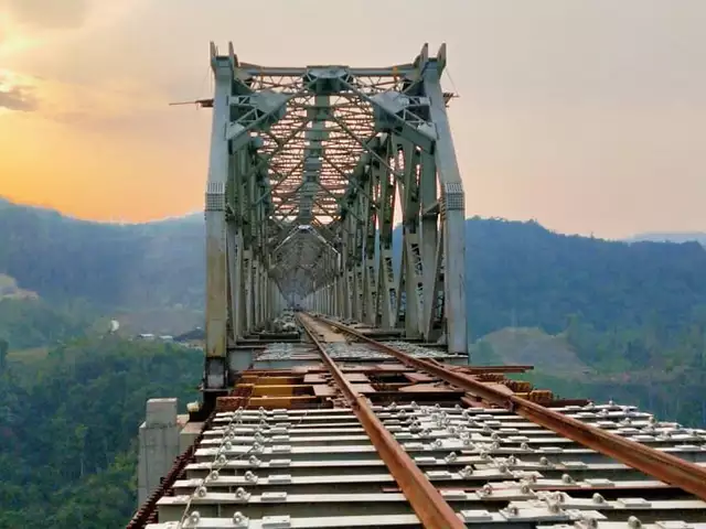 Jiribam-Imphal railway line