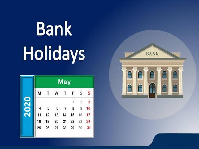 Bank Holidays in May 2020