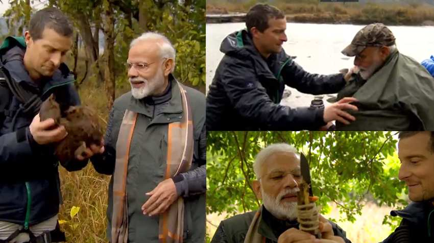 Modi Ji with Bear Grylls
