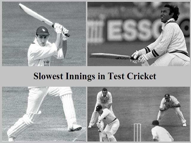Slowest Innings in Test Cricket