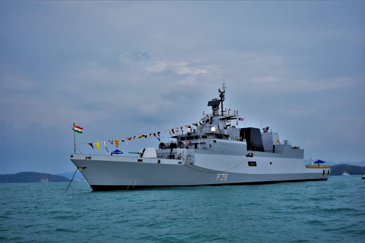INS Kadmatt at Langkawi, Malaysia to Participate in LIMA-19