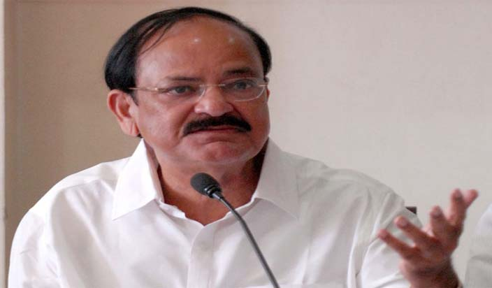 Vice President Venkaiah Naidu lays foundation for railway projects