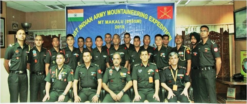 First Indian Army Mountaineering Expedition to Mt Makalu flagged off